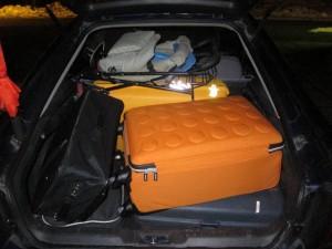 All vår packning och hur den får plats i vår Mazda