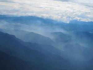 Vy över PNG's vackra bergiga vildmark